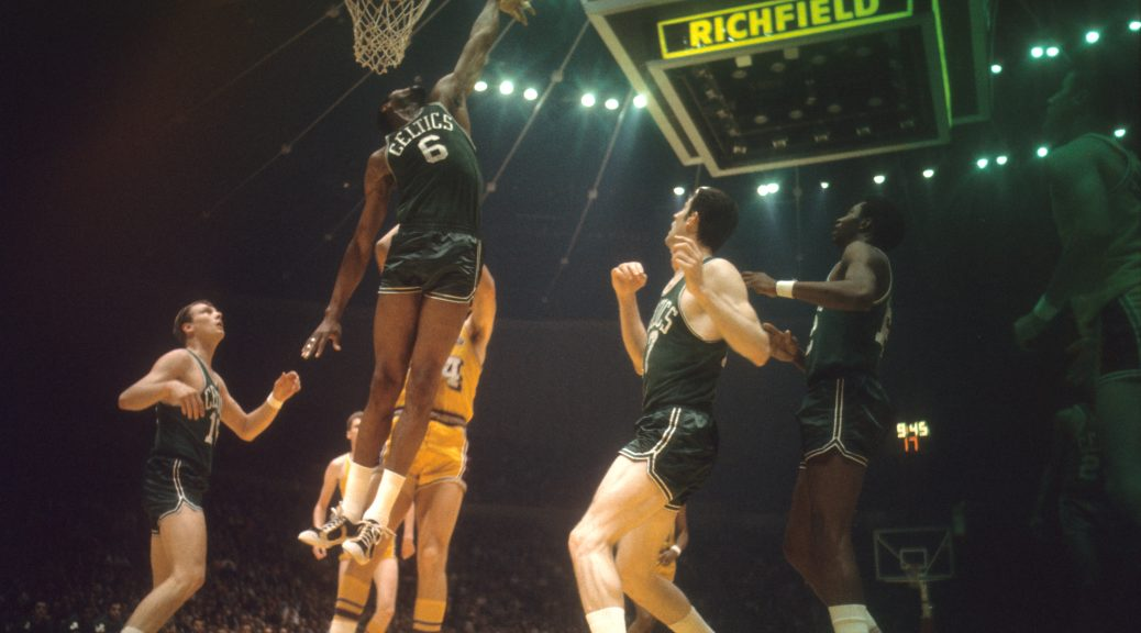Basketball: NBA Finals: Boston Celtics Bill Russell (6) in action vs Los Angeles Lakers at The Forum.  Inglewood, CA 5/5/1968 CREDIT: Walter Iooss Jr. (Photo by Walter Iooss Jr. /Sports Illustrated/Getty Images) (Set Number: X13208 TK1 R29 F21 )